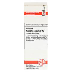 ACIDUM HYDROFLUORICUM D 12 Dilution 20 Milliliter N1 - Vorderseite