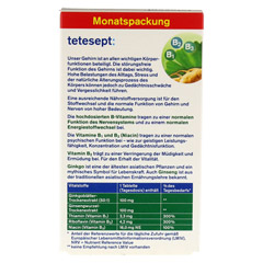 TETESEPT Ginkgo Ginseng+B-Vitamine Tabletten 30 Stück - Rückseite
