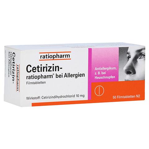 Cetirizin-ratiopharm bei Allergien 50 Stück N2