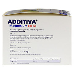 ADDITIVA Magnesium 300 mg N Pulver 40 St�ck - Rechte Seite