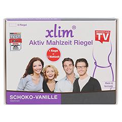 XLIM Aktiv Mahlzeit Riegel Schoko-Vanille 6x75 Gramm - Vorderseite