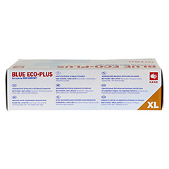 HANDSCHUHE Einmal Nitril XL blau 100 Stück - Unterseite