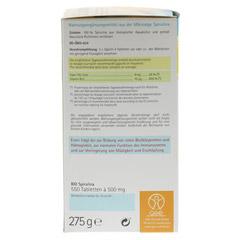 SPIRULINA 500 mg Bio Naturland Tabletten 550 Stück - Linke Seite