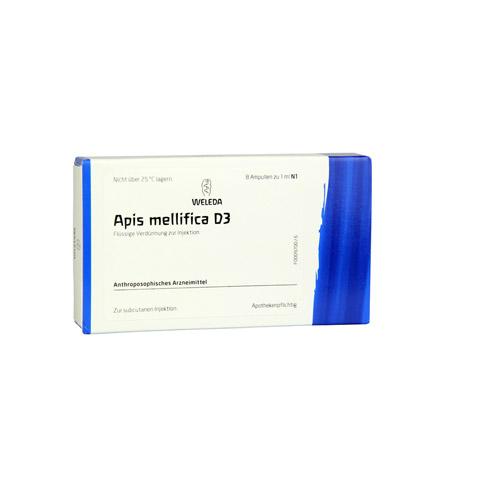 APIS MELLIFICA D 3 Ampullen 8 Stück N1