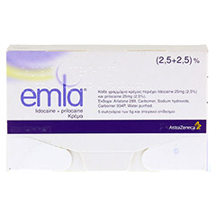 EMLA Creme + 12 Tegaderm Pflaster 5x5 Gramm N2 - Vorderseite