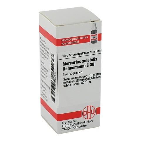 MERCURIUS SOLUBILIS C 30 Globuli Hahnemanni 10 Gramm N1