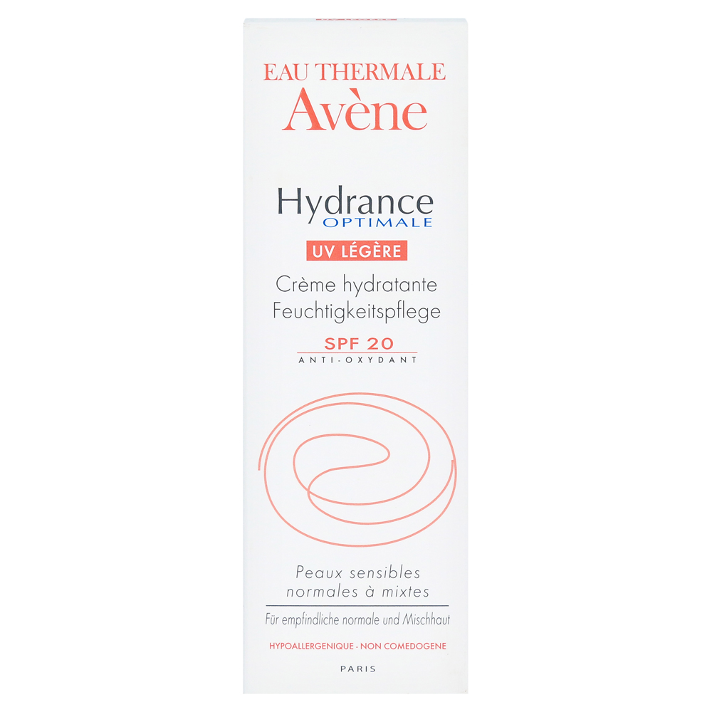 avene hydrance optimale uv legere creme 40 milliliter. Black Bedroom Furniture Sets. Home Design Ideas