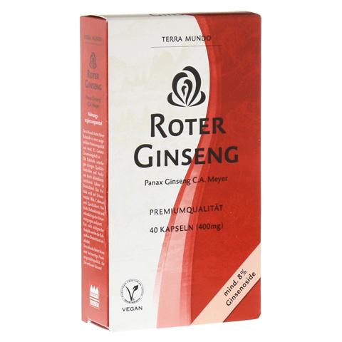 ROTER GINSENG 400 mg 8% von Terra Mundo Kapseln 40 St�ck