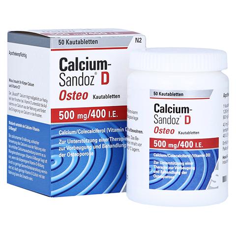 CALCIUM SANDOZ D Osteo 500 mg/400 I.E. Kautabl. 50 Stück N2
