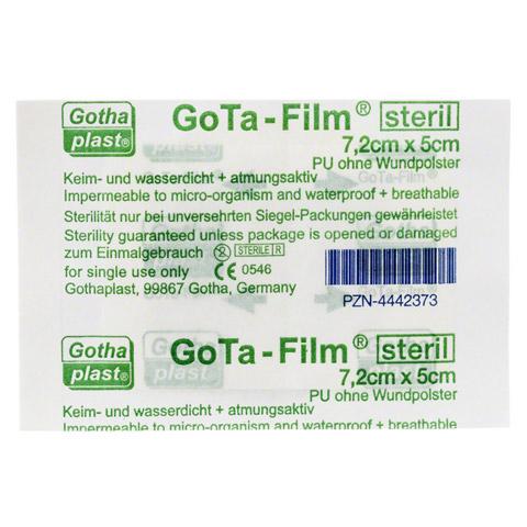 GOTA FILM steril 7,2x5cm Pflaster 1 St�ck