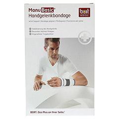 BORT ManuBasic Bandage rechts medium schwarz 1 Stück - Vorderseite