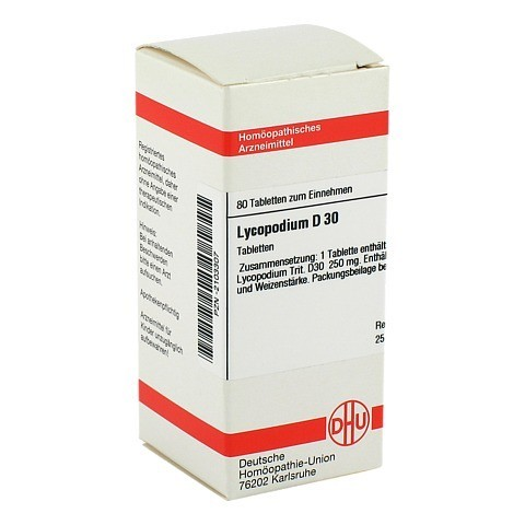 LYCOPODIUM D 30 Tabletten 80 Stück