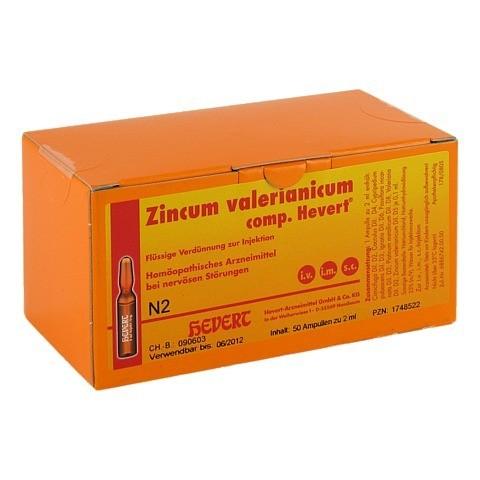 ZINCUM VALERIANICUM comp. Hevert Ampullen 50 Stück N2