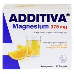 ADDITIVA Magnesium 375 mg Granulat Orange 20 Stück - Vorderseite