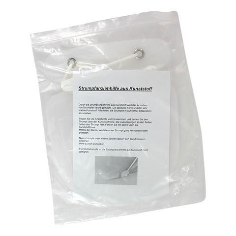 STRUMPFANZIEHHILFE Kunststoff mit Band 1 Stück