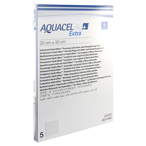 AQUACEL Ag+ Extra 20x30 cm Kompressen 5 Stück