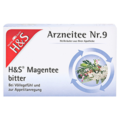 H&S Magentee Filterbeutel 20 Stück - Vorderseite