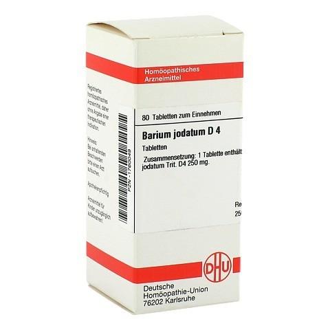 BARIUM JODATUM D 4 Tabletten 80 St�ck N1