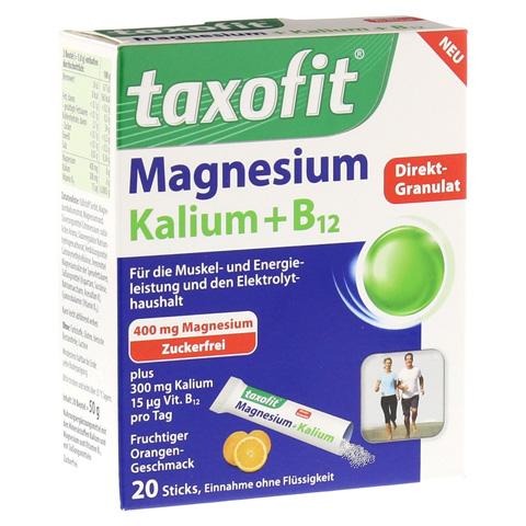 TAXOFIT Magnesium+Kalium+B12 Direkt-Granulat 20 Stück