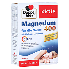 DOPPELHERZ Magnesium 400 für die Nacht Tabletten 30 Stück