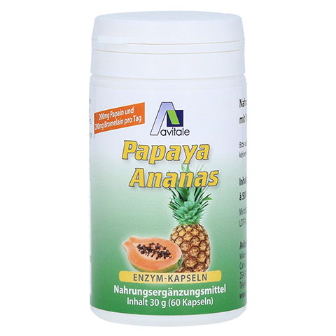 PAPAYA Ananas Enzym Kapseln 60 Stück