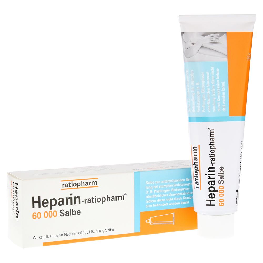 ratiopharm GmbH Heparin-ratiopharm 60000 Salbe 150 Gramm