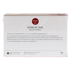 NOBILIN Zink Plus Vitamin C Tabletten 2x60 St�ck - R�ckseite