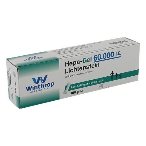 Hepa-Gel 60000I.E. Lichtenstein 100 Gramm N2