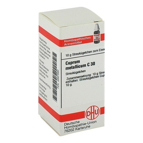 CUPRUM METALLICUM C 30 Globuli 10 Gramm N1