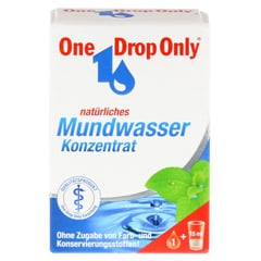 ONE DROP Only natürl.Mundwasser Konzentrat 10 Milliliter - Vorderseite