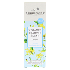 FRÜHMESNER veganes Kräuter Ölbad Arnika 100 Milliliter - Vorderseite