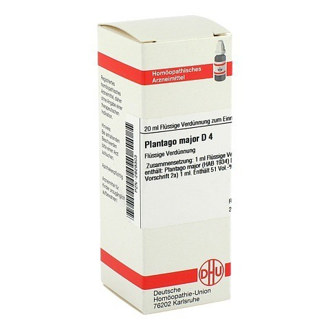 PLANTAGO MAJOR D 4 Dilution 20 Milliliter N1