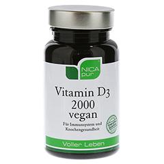 NICAPUR Vitamin D3 2000 vegan Kapseln 60 Stück