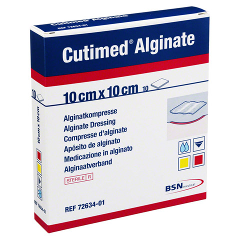 CUTIMED Alginate Alginatkompressen 10x10 cm 10 St�ck