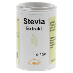 STEVIA GRANULAT 15 Gramm - Vorderseite