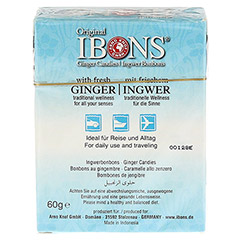 INGWER BONBONS Original Pfefferminze 60 Gramm - R�ckseite