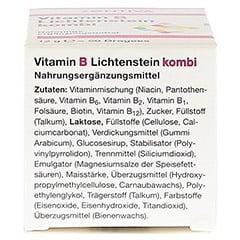 VITAMIN B Lichtenstein Kombi Dragees 50 Stück - Unterseite