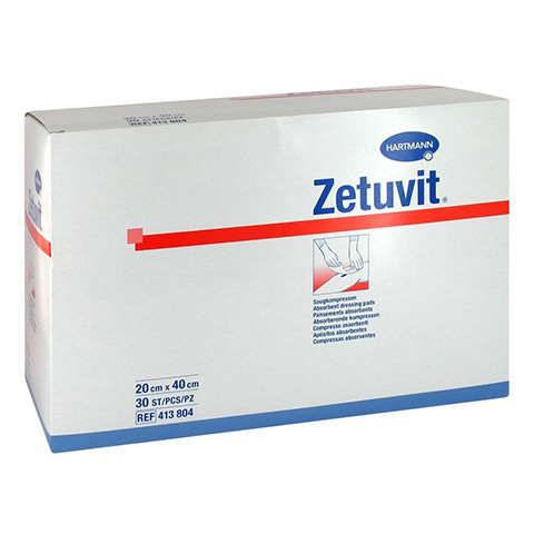 ZETUVIT Saugkompresse unsteril 20x40 cm 30 St�ck