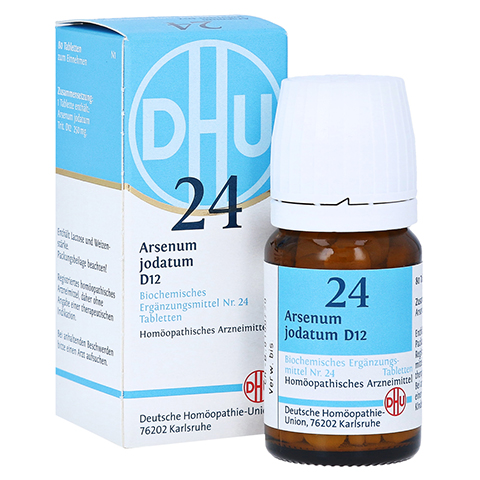 BIOCHEMIE DHU 24 Arsenum jodatum D 12 Tabletten 80 St�ck N1