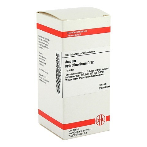 ACIDUM HYDROFLUORICUM D 12 Tabletten 200 Stück N2