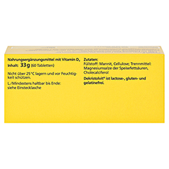 DEKRISTOLVIT D3 4.000 I.E. Tabletten 60 Stück - Oberseite