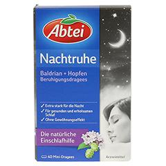 ABTEI Nachtruhe (Baldrian + Hopfen Beruhigungsdragees) 40 Stück - Vorderseite