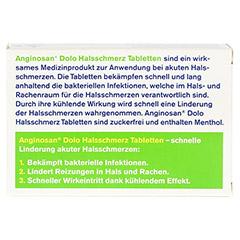 TETESEPT Anginosan Dolo Halsschmerz Tabletten 20 Stück - Rückseite
