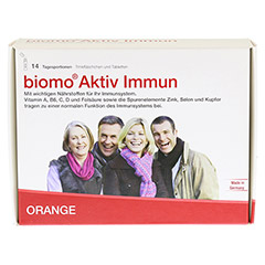 BIOMO Aktiv Immun Trinkfl.+Tab.14-Tages-Kombi 1 Packung - Vorderseite