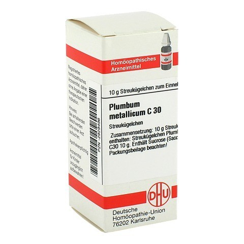 PLUMBUM METALLICUM C 30 Globuli 10 Gramm N1