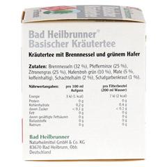 BAD HEILBRUNNER Tee Basische Kräuter Filterbeutel 8 Stück - Rechte Seite