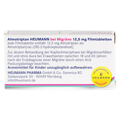 Almotriptan Heumann bei Migräne 12,5mg 2 Stück N1 - Rückseite