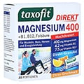 TAXOFIT Magnesium 400+B1+B6+B12+Fols�ure 800 Gran. 20 St�ck