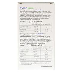 TRIVITAL gastro Kapseln 56 St�ck - R�ckseite