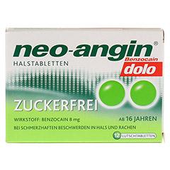 Neo-angin Benzocain dolo Halstabletten zuckerfrei 12 Stück - Vorderseite